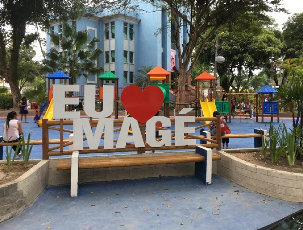 Praça Central de Magé / Reprodução / Secom-Magé